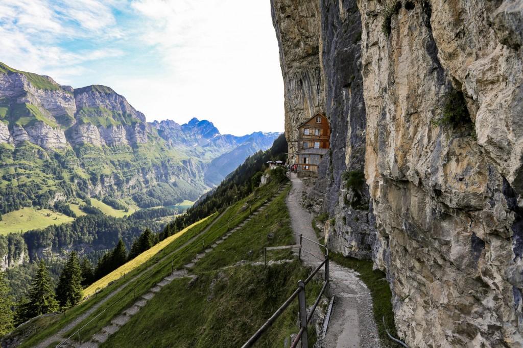 Best Places to Visit in Switzerland: Berggasthaus Aescher-Wildkirchli
