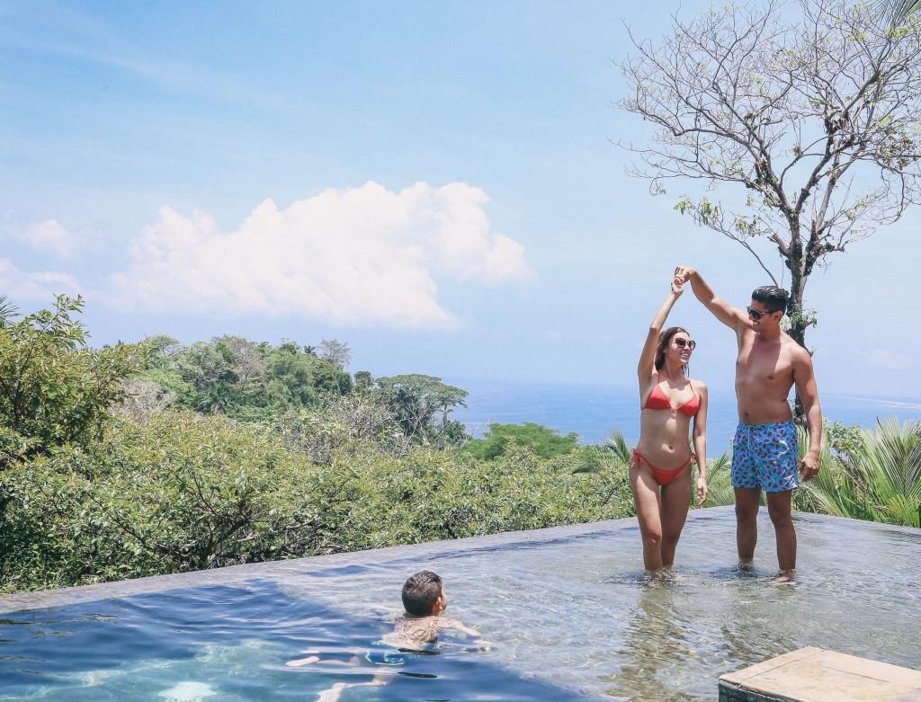 family fun at villa paraiso's infinity pool